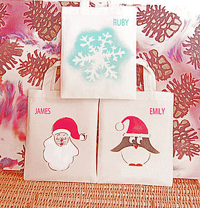 Three Mini Christmas Bags For Children - stockings & sacks