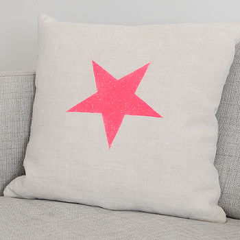 Star Vintage Linen Cushion