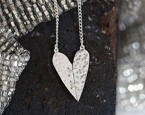 Handmade Silver Sewn Heart Pendant - necklaces & pendants