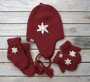 Alpaca Christmas Snowflake Baby Gift Set - socks, tights & booties