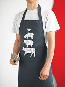 Long Butcher's Kitchen Apron - sale by room