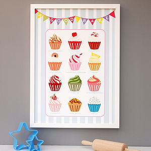 Cupcake Baking Kitchen Print