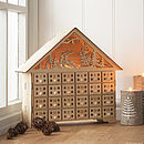 Natural Wood Light Up Advent House