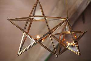 Antique Glass Star - on trend: gold & brass