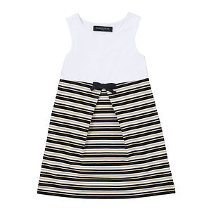 Was £20 Now £15 Kids White And Multi Stripe Dress