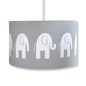 Handmade Retro Elephant Lampshade - children's circus