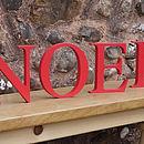 'Noel' Red Wooden Letters