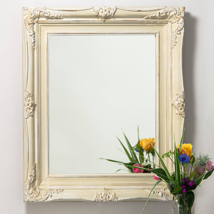 vintage ornate hand painted mirror by hand crafted mirrors | notonthehighstreet.com