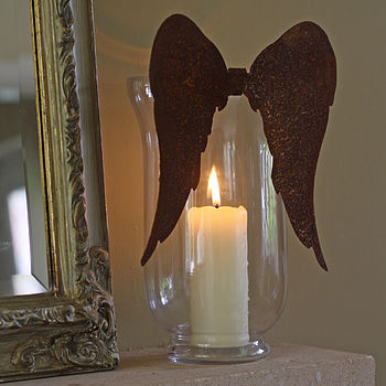 Rusty Angel Wings For Vase