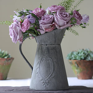 Slate Grey Metal Jug