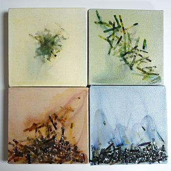 Set Of Four Seasons Acrylic Paintings