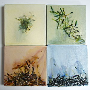 Set Of Four Seasons Acrylic Paintings