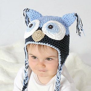 Handmade Child's Owl Hat - hats, scarves & gloves