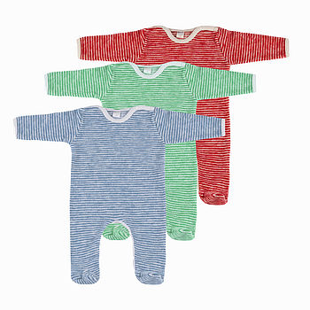 Organic Lambswool Fleece Sleepsuit Pyjamas