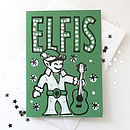 Elfis card in Green