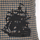 Houndstooth Galleon Large Cushion
