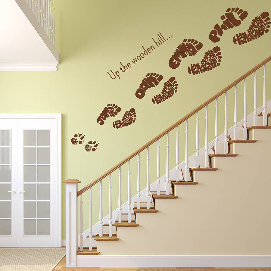 Personalised Footprint Wall Art Stickers Part 19