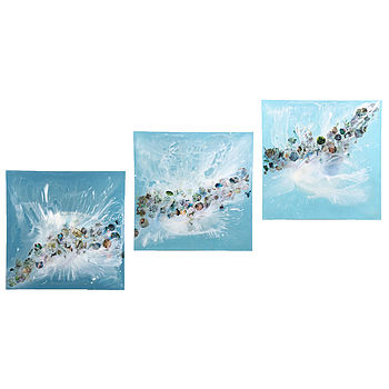Waves Triptych Canvases