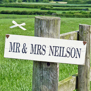 Personalised 'Mr & Mrs' Sign - room decorations