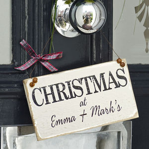 Personalised Classic Christmas Sign - christmas home accessories