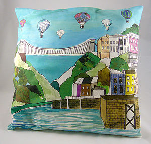 Bristol 'Clifton Balloons' Cushion - cushions