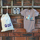 Hare And Tortoise First Shoes Baby Gift Set