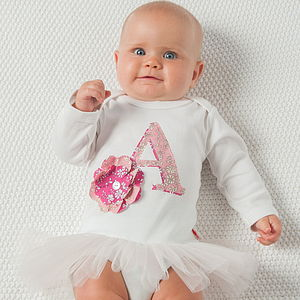 Personalised Baby Organic Tutu Bodysuit - clothing