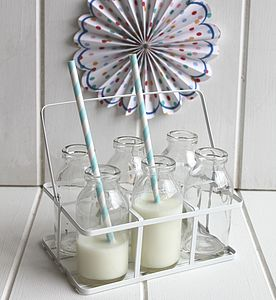 Vintage Style Milk Bottles - table decorations
