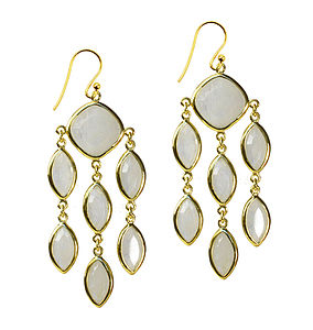 Lola Earrings Vermeil And Moonstone