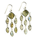 Lola Earrings Silver And Labradorite