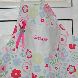 Personalised Childrens Embroidered Apron - kitchen linen