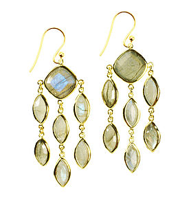 Lola Earrings Vermeil And Labradorite