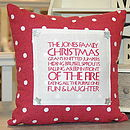 Christmas Text Panel Cushion