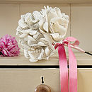 Hand Tied Six Literary Paper Roses Bouquet
