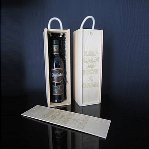 Personalised Laser Etched Wine Box - gift bags & boxes