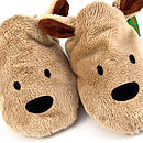 Brown Bear Soft Baby Shoes Detail