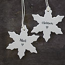 White Snowflake Christmas Tree Decoration