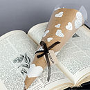 Wrapped Literary Paper Rose