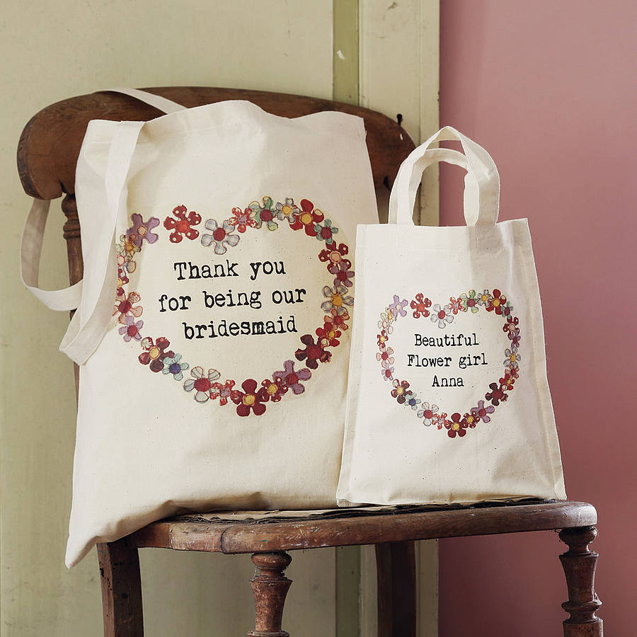 Personalised Wedding Gift Ideas Uk : personalised wedding party tote bag by snapdragon notonthehighstreet ...
