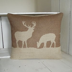 ' Stag And Deer ' Cushion - cushions
