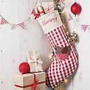 Personalised Cute Robin Christmas Stocking