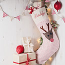 Personalised Rudolf Christmas Stocking