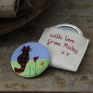 Personalised Cat Compact Mirror - beauty & pampering