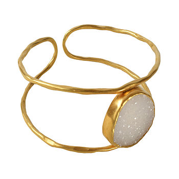 Bex Bangle Gold And White Drusy