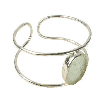 Bex Bangle Silver And Aquamarine