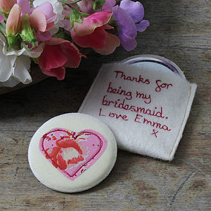 Personalised Wedding Favour Compact Mirror - wedding thank you gifts