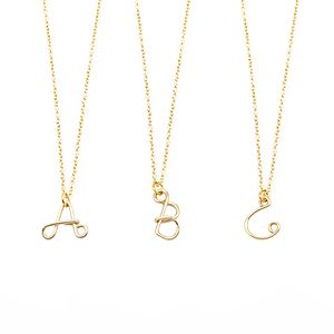 Gold Filled Initial Necklace - gifts for her