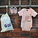 Rose First Shoes Baby Gift Set