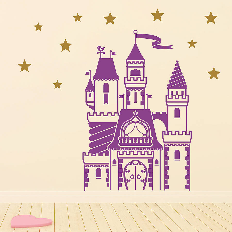 Castle wall decals roselawnlutheran for Castle wall mural sticker