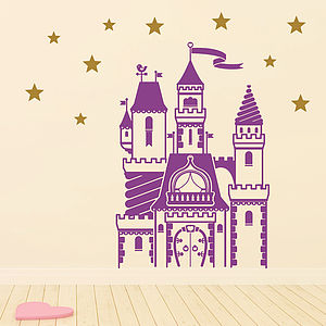 Magical Fairytale Castle Wall Sticker Set - wall stickers